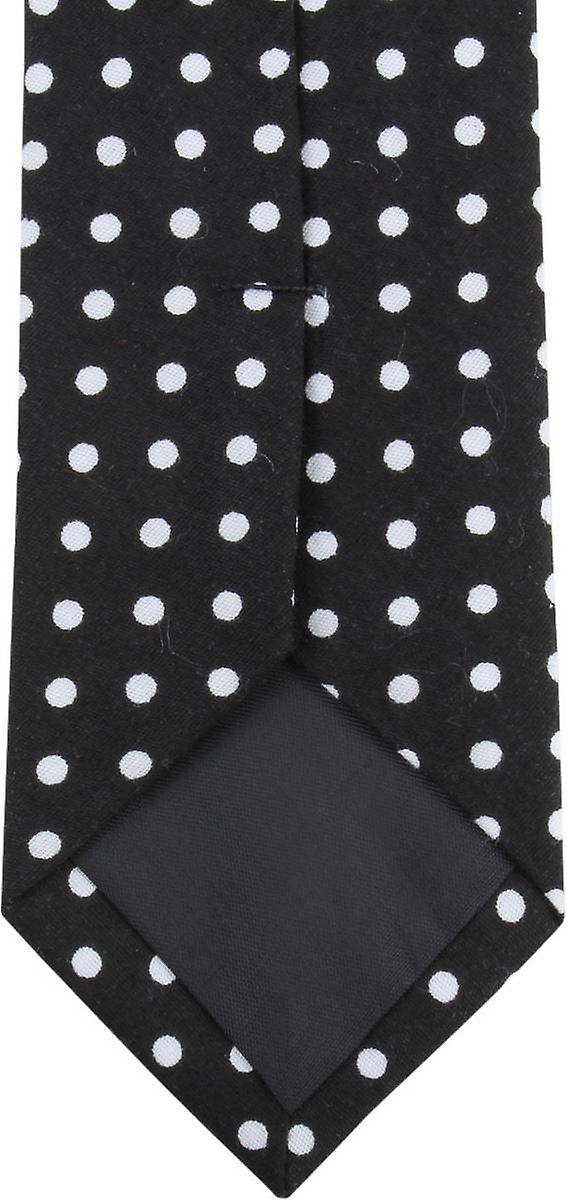 Knightsbridge Neckwear Polka Dot Cotton Skinny Tie - Black/White