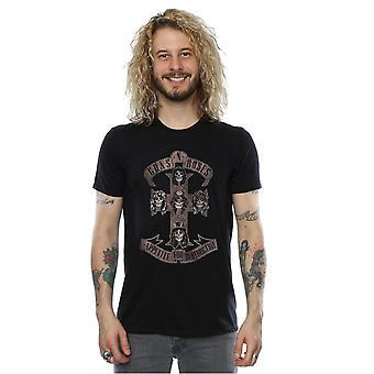 Apetito Guns N Roses Varonil para la destrucción de camiseta Color Sepia