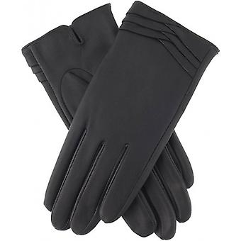 Dents Katrina Folded Cuff Detail Gloves - Charcoal