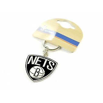 Brooklyn Nets Official NBA Crest Keyring
