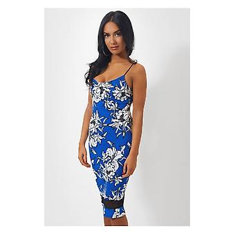 The Fashion Bible Evia Blue Floral Midi Dress