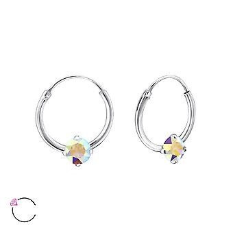 Round crystal from Swarovski® - 925 Sterling Silver Earrings - W27949X