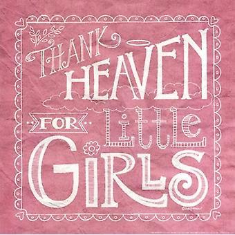 Grâce au ciel pour petites filles Poster Print par Deb Strain (12 x 12)