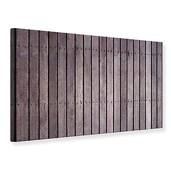 Leinwand drucken Holz Wand