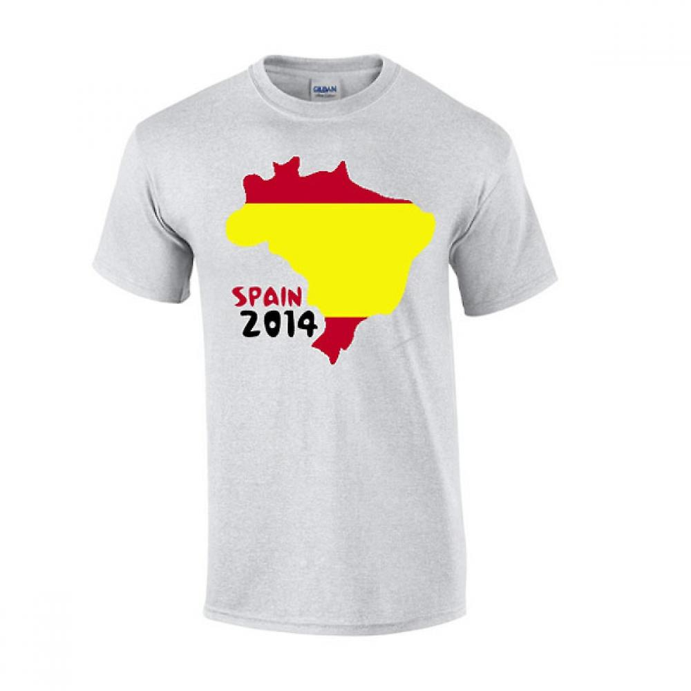 Spania 2014 land flagg T-shirt (grå)