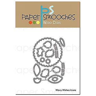 Paper Smooches Dies-Wavy Wishes Icons A2D403