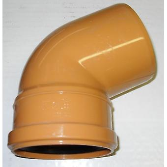 Soil Pipe 160 mm - 67.5 degree Bend - Push-Fit - Underground - Brown - 6