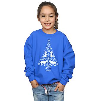 Disney Girls Frozen Christmas Tree Sweatshirt