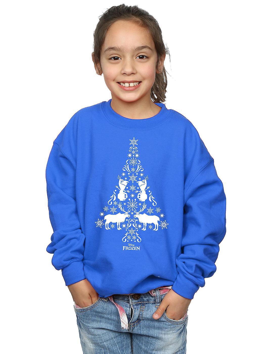 Disney Girls Frozen Christmas Tree Sweatshirt
