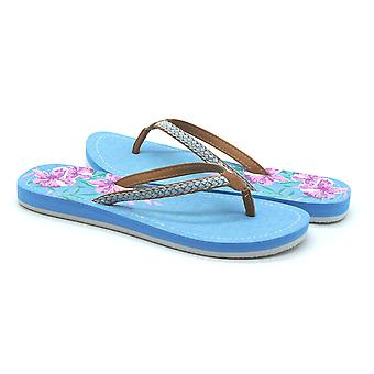 Atlantis Shoes Women Supportive Cushioned Comfortable Sandals Flip Flops Jeans Selected Blue