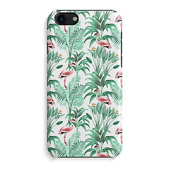 iPhone 7 Full Print Case - Flamingo leaves