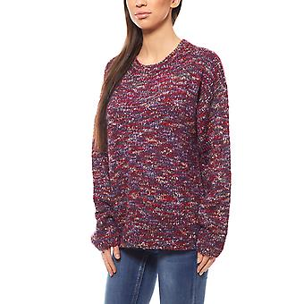 Cheer women's Chunky knit knit sweater violet