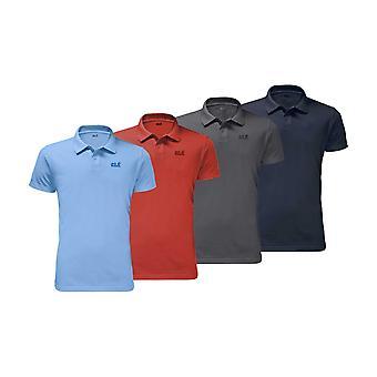 Jack Wolfskin Mens Piqué Polo t-shirt