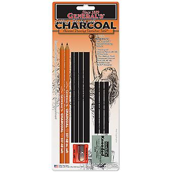Charcoal Drawing Essentials Tool Kit 11 Pieces 57139 Bp