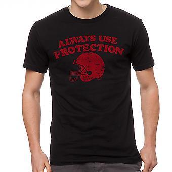 Humor skydd mäns svart T-shirt