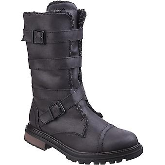 Rocket Dog Womens/Ladies Lance Zip Up Durable Casual Tall Buckle Boots