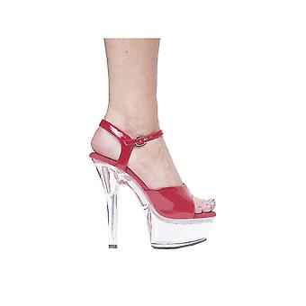 Ellie Shoes E-601-Juliet-C 6 Heel Sandal With Clear Bottom