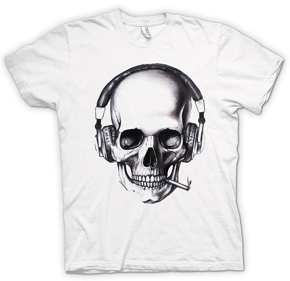Mens T-shirt - Skull DJ Headphones