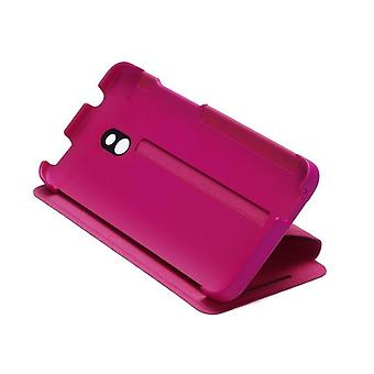 HTC HC V851 klappens cover tilfældet for HTC én mini - pink