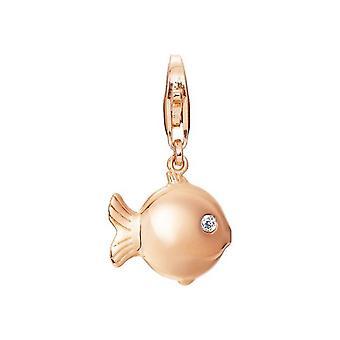 ESPRIT pendant of charms silver Rosé blowfish puffer fish ESCH91492A000