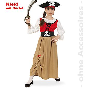 Piratenmädchen Piratin der Meere Kostüm Kinder Piratenkönigin Seeräuberin Kinderkostüm