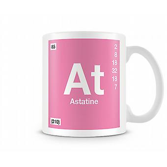 Element Symbol 085 As - Astatine Printed mugg