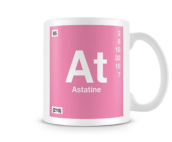 Element Symbol 085 As - Astatine Printed Mug