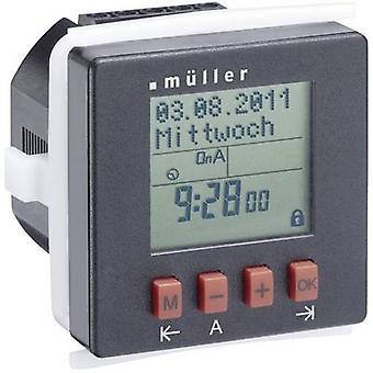 Contador de tiempo de montaje carril Müller SC2410pro DIN digital 230 V CA 8 A/250 V