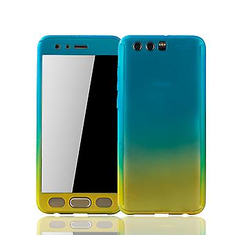 Huawei honor 9 mobile case protection-case full cover tank protection glass blue / yellow