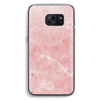 Samsung Galaxy S7 gjennomsiktig sak (myk) - rosa marmor
