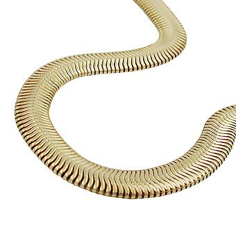 AMD 6x2mm snake flat necklace gold plated 45cm