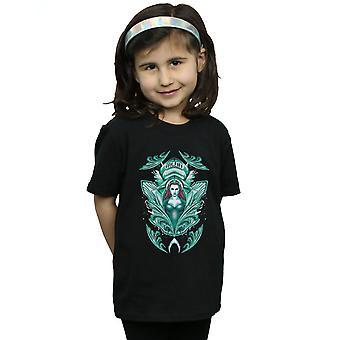 DC コミックの女の子アクアマン目良家紋 t シャツ