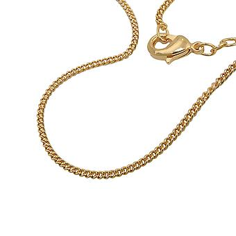 Chain curb 50cm gold plated