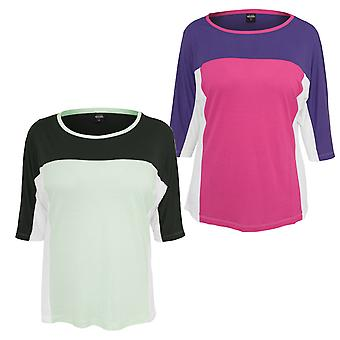 Chemise à manches longues ladies urbaines classiques 3 tons 3/4 Sleeve Tee