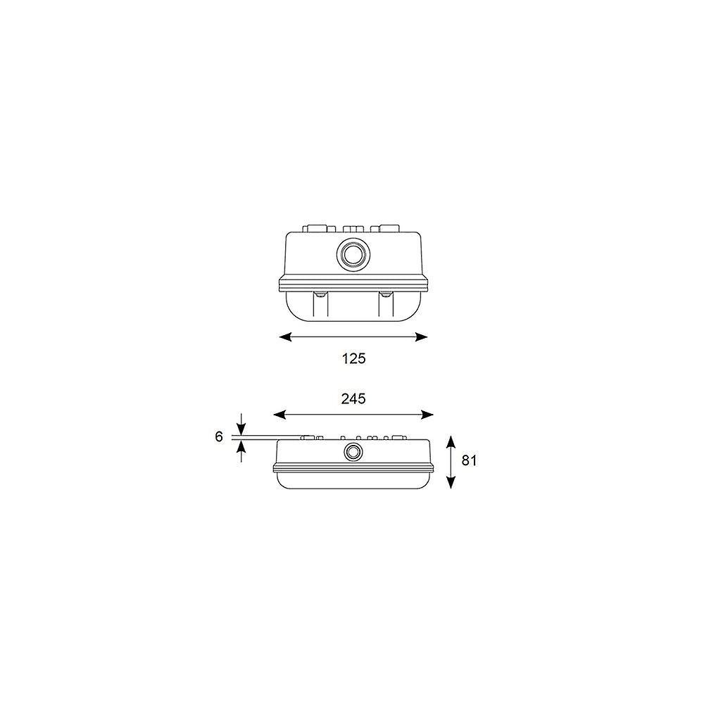 Ansell 100W E27 Polycarbonate Bulkhead Light IP66