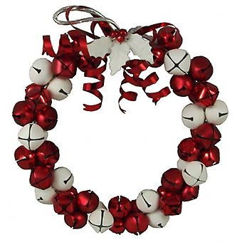 Gisela Graham Red & White Jingle Bell Christmas Wreath