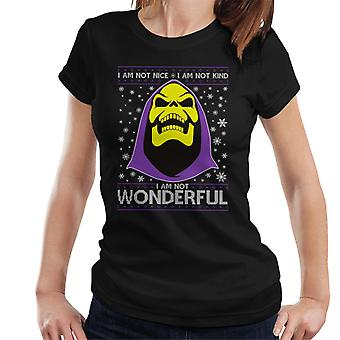 He Man Skeletor Christmas Knit Pattern Women's T-Shirt