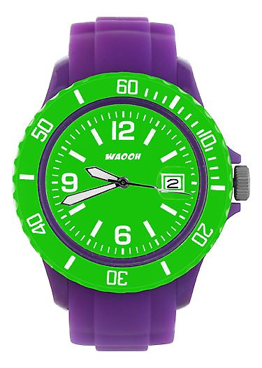 Waooh - Watch Dial & Bezel MONACO38 Violet Color