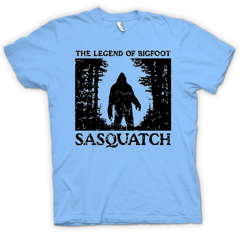 Heren T-shirt - Sasquatch Yeti Bigfoot waarneming - Cryptozoology