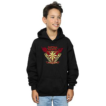 Marvel Boys Captain Marvel Protector Of The Skies Hoodie