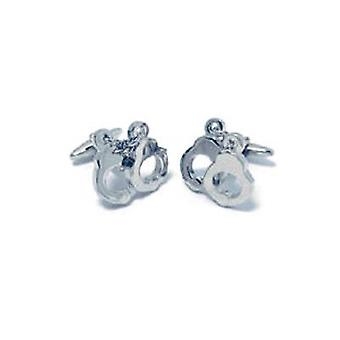 Artamis Gents Rhodium Plated Handcuff Cufflinks In Presentation Box