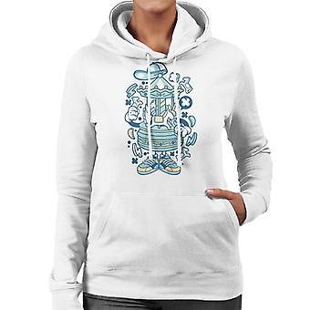 Carousel Cartoon Character Women's Hooded Sweatshirt