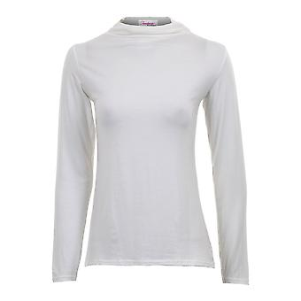 Ladies Long Sleeve Turtle Polo Neck Plain All Colours Women's Fitted Top