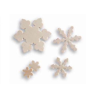 SALE - 15 Assorted Wooden Christmas Snowflake Craft Shapes