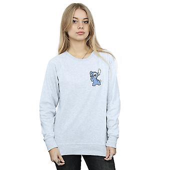 Lilo und Stitch Stitch Rückseite Brust Print Sweatshirt Disney Frauen