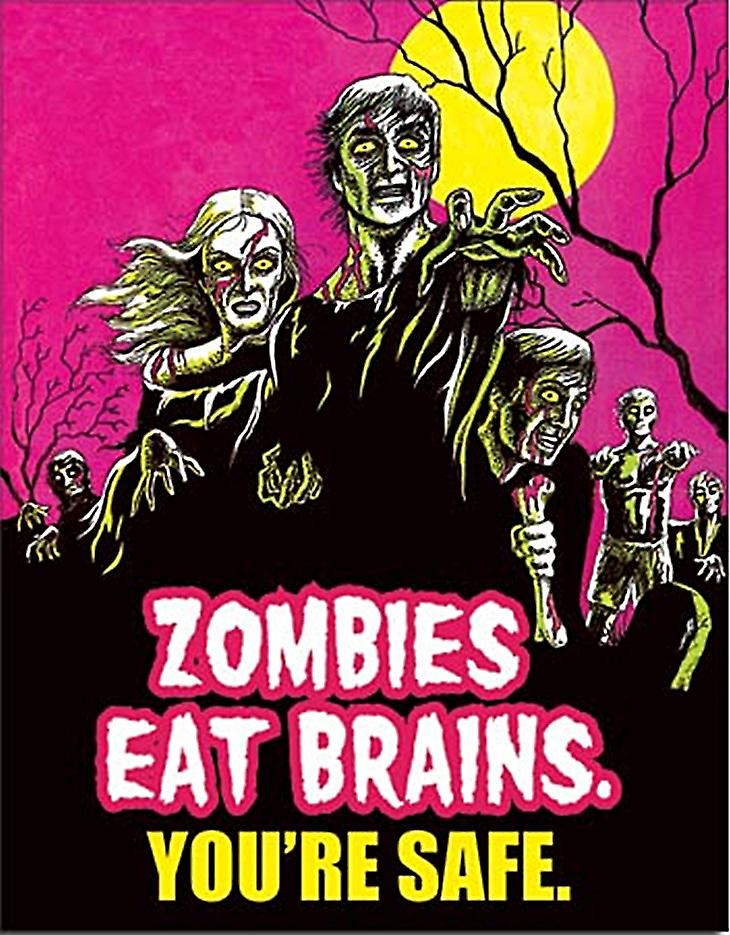 Zombies Eat Brains funny metal sign (de)