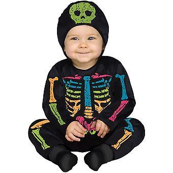 Poco luminoso abito Costume scheletro