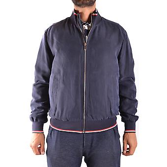 Paul & Shark Blue Silk Outerwear Jacket