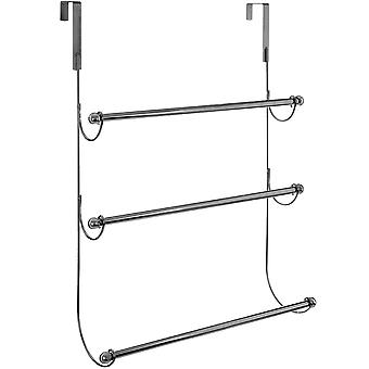 Supraporte - 3 Sprosse Metall Handtuchhalter hängen - Chromsilber