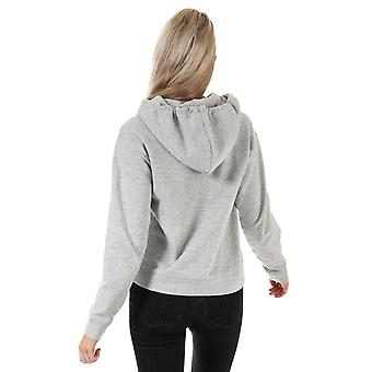 Womens Only Hilde Hoody In Light Grey Melange / Yellow